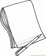 Notebook Clip Cliparts Coloring sketch template
