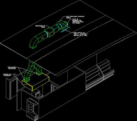 industrial kitchen exhaust system fat extractors dwg