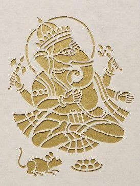 ganesha saanjhi wall art    cut paper