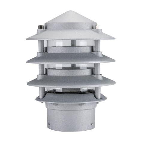 lighting bollard head domus tier light bl three silver lights