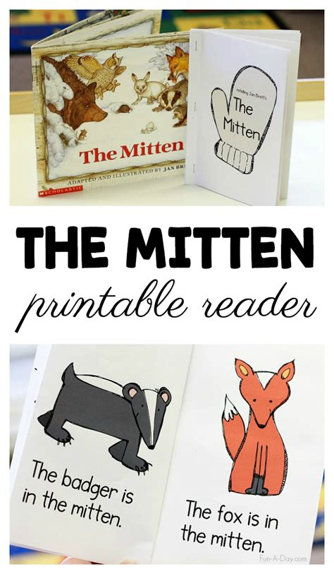 the mitten printable emergent reader for preschool and 111 | Free The Mitten Printable Emergent Reader