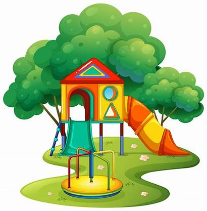 Playground Vector Roundabout Slide Clipart Graphics