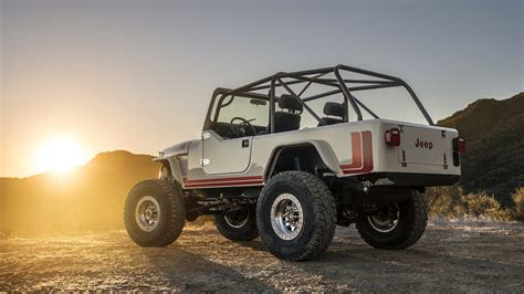 Jeep 4k Wallpapers by Wallpaper Jeep Cj 8 Scrambler Suv Back View Sunset
