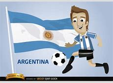 Argentina football player with ball Vector Free Download