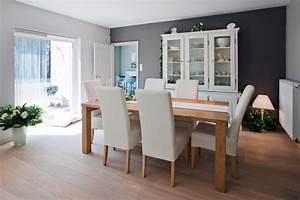 Salle A Manger : d co salle a manger blanc et marron exemples d 39 am nagements ~ Melissatoandfro.com Idées de Décoration