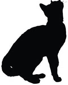 Sitting Cat Silhouette