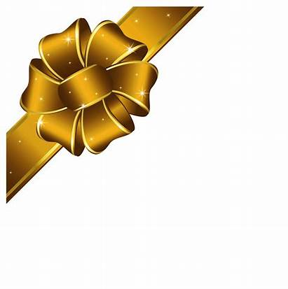 Ribbon Gold Christmas Clip Clipart Transparent Bow