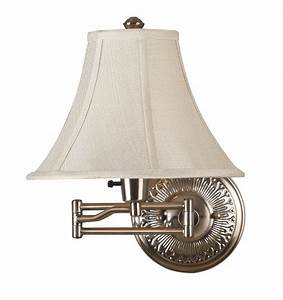 Kenroy home 21395brbr amherst swing arm wall lamp for Swing arm wall lamp