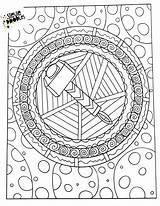 Thor Hammer Mjolnir Thors Wielding sketch template