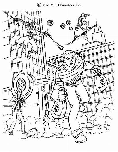 Sandman Stealing Money Coloring Pages Spiderman Spider