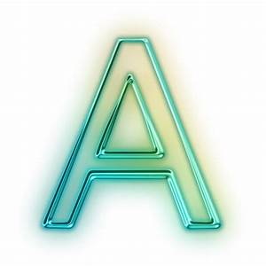 gallery green letter i With neon letter a