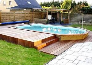 Piscine Semi Enterré Bois : piscine semi enterr bois piscine bois kit idea mc ~ Premium-room.com Idées de Décoration