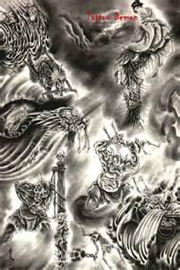 Angel and Demon Tattoo Drawings