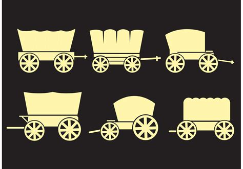 covered wagons vectors   vector art stock