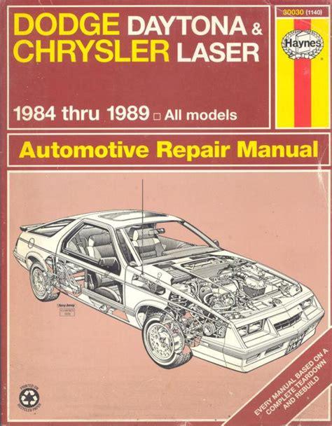 hayes auto repair manual 1989 mitsubishi starion lane departure warning buy dodge daytona chrysler laser 1984 1989 all models automotive repair manual motorcycle in