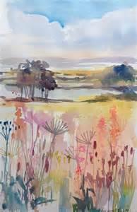 Simple Watercolor Landscape Paintings