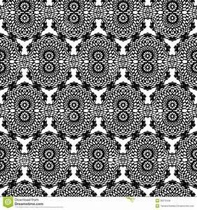 Lace Black Seamless Mesh Pattern. Royalty Free Stock ...