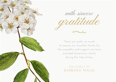 Send a funeral thank you cards to those around you who will appreciate this recognition. Customize 33+ Funeral Thank You Card templates online - Canva