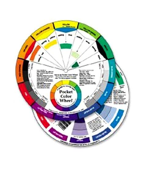 pocket color mixing wheel artist guide watercolor paint