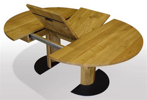 runder tisch nach mass aus eiche massiv ausziehbar per mittelauszug mit integrierter