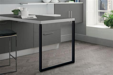 pied de plan de travail cuisine zdn prt639009 pied de table rectangulaire télescopique