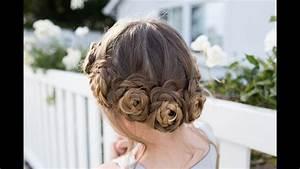 Flower Crown Braid | Updo | Cute Girls Hairstyles - Makeup ...