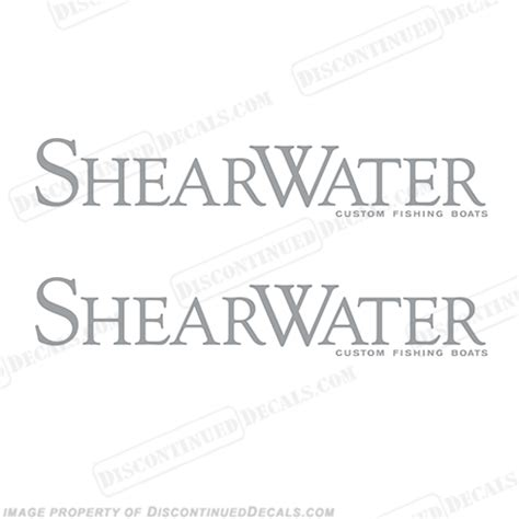 Shearwater Boats Logo shearwater boat logo decals set of 2 any color