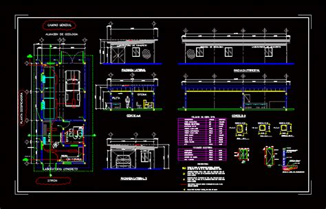 concrete lab dwg block  autocad designs cad