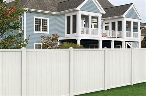 white vinyl belmont privacy fence panel  menards