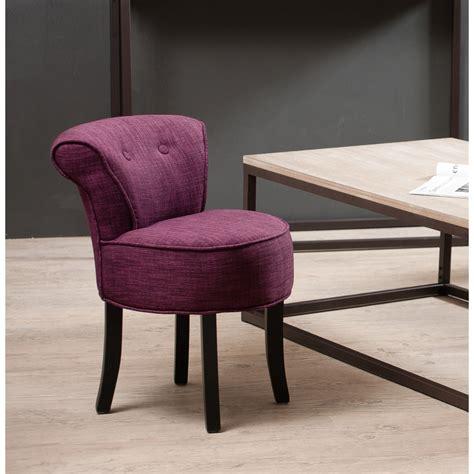 tabouret rond avec dossier tissu couleur prune meubles