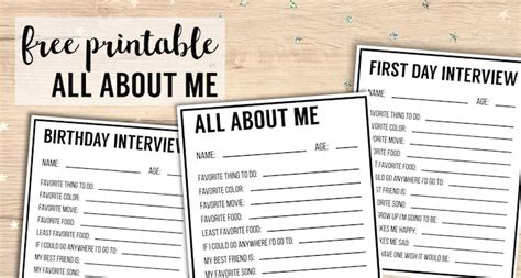 printables interview template paper trail