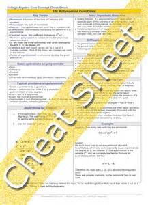 College Algebra Formula Cheat Sheet