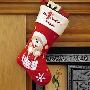 Baby, U0026, 39, S, First, Christmas, U0026, 39, Teddy, U0026, 39, Stocking, By, Oli, U0026, Zo