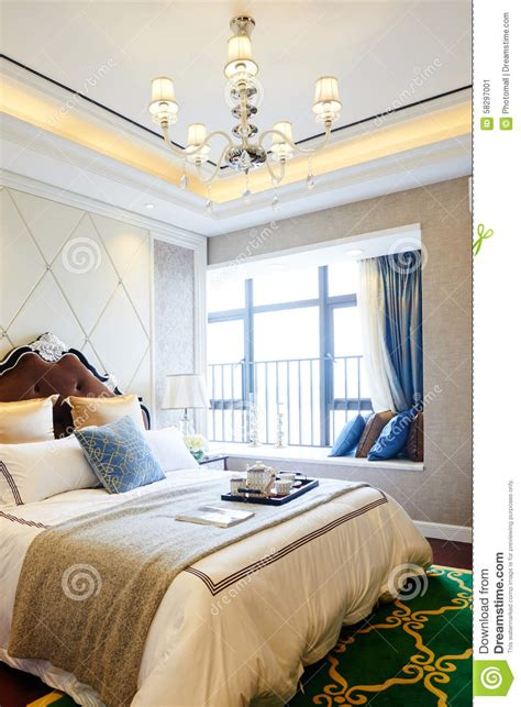 chambre a coucher de luxe intérieur à la maison de luxe de chambre à coucher photo