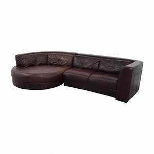 70 off chateau d39ax chateau d39ax leather sectional with With chateau d ax sectional sofa