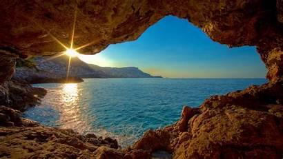 1080p Cave Windows Sunset