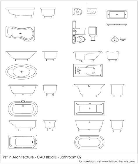 cad blocks bathroom   architecture