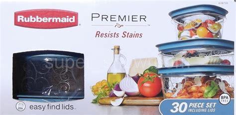 New Rubbermaid Premier 30 Piece Plastic Food Storage