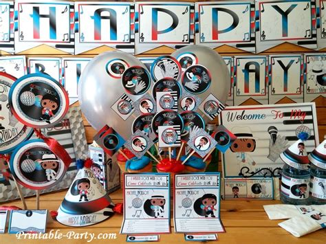 Michael Birthday Decorations - inspired by michael jackson birthday decorations