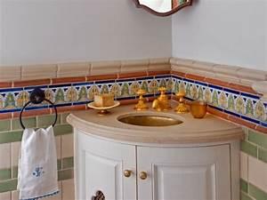 meuble vasque salle de bain petit espace en 55 idees supers With salle de bain design avec décoration soirée country