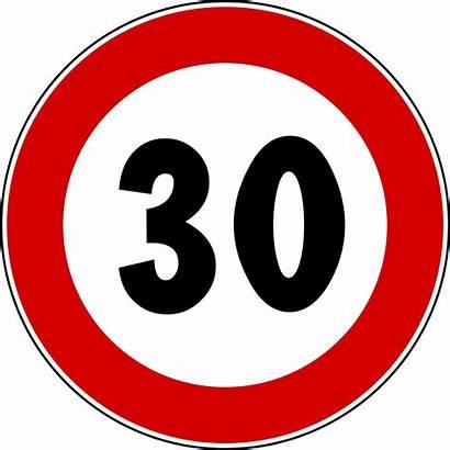 Number Svg Signs Traffic Di Italian Limite