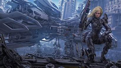 Futuristic 4k Cyborg Blonde 8k Digital Deviantart