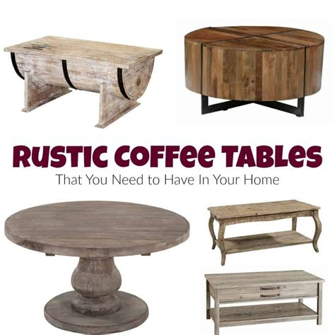 Home » coffee tables » 25 ideas of painted coffee tables. Rustic Coffee Tables That You Need to Have In Your Home | Rustic coffee tables, Coffee table ...