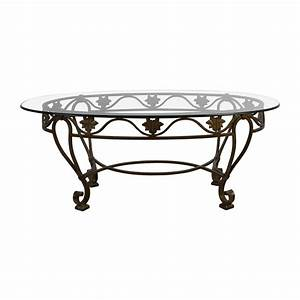 90 off iron cast glass top antique coffee table tables With antique wrought iron coffee table