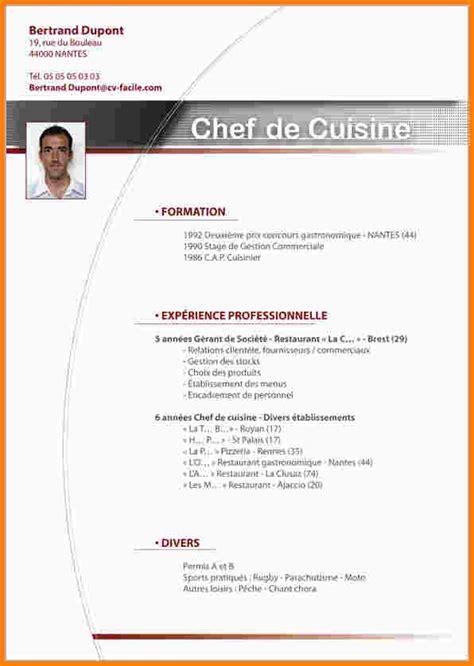 recherche apprentissage cuisine 9 exemple cv suisse modele de lettre