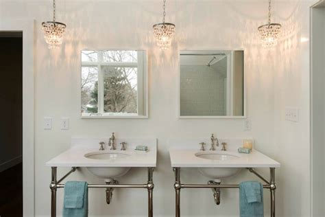 crystal drops chandelier cottage bathroom pinney designs