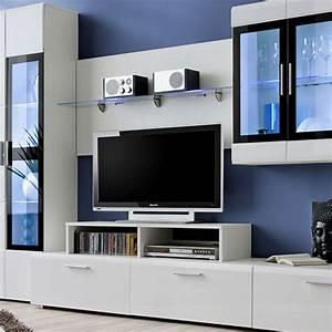 Meuble Design Tv Mural : meuble tv mural design krone 270cm blanc ~ Teatrodelosmanantiales.com Idées de Décoration