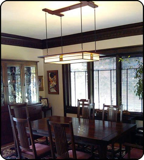 craftsman lighting dining room prairie style light fixture in dining room mission