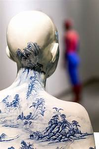Porcelain busts imprinted with chinese decorative designs for Porcelain busts imprinted with chinese decorative designs by ah xian