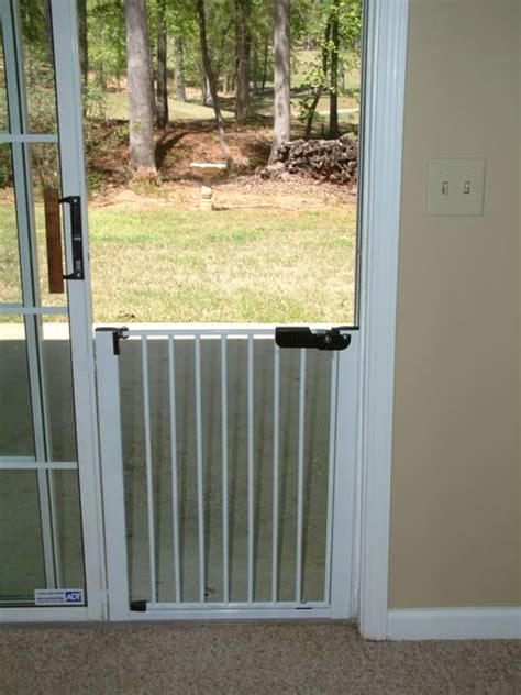 patio door baby gate sliding door gate lock n block by